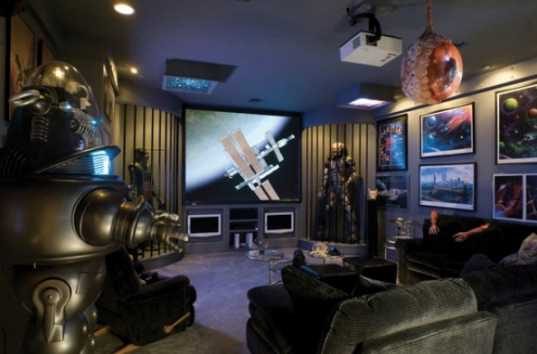 How to Design the Ultimate Game Room big screen
