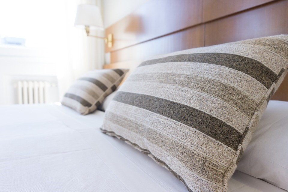 bedroom spice up with pillows on bed