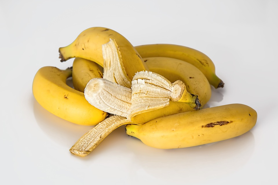 Foods bananas unpeeled