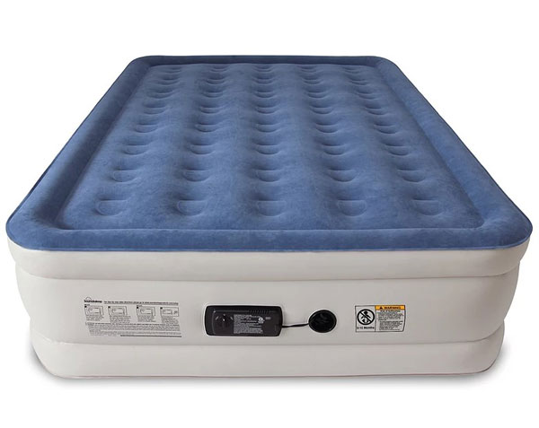 air mattress blue