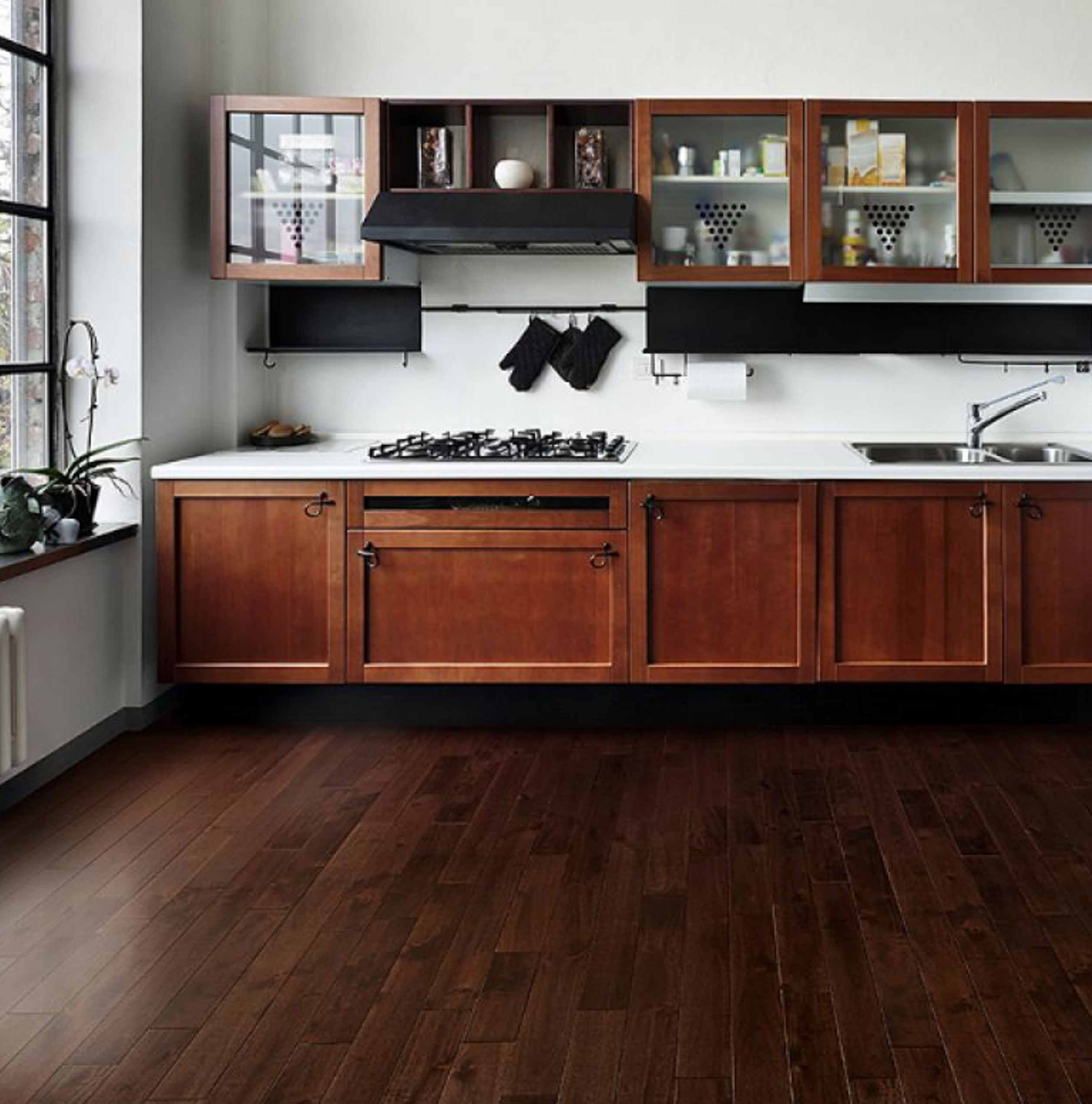 Flooring hardwood kitchen