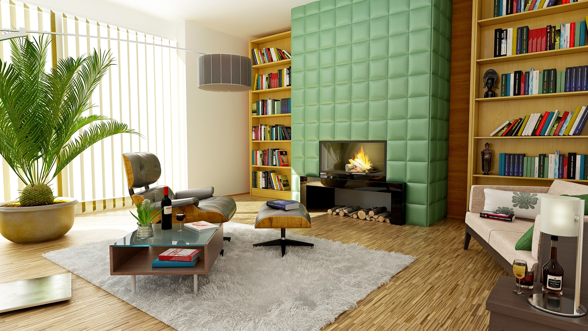 7 DIY Green Home Improvement Ideas green fireplace