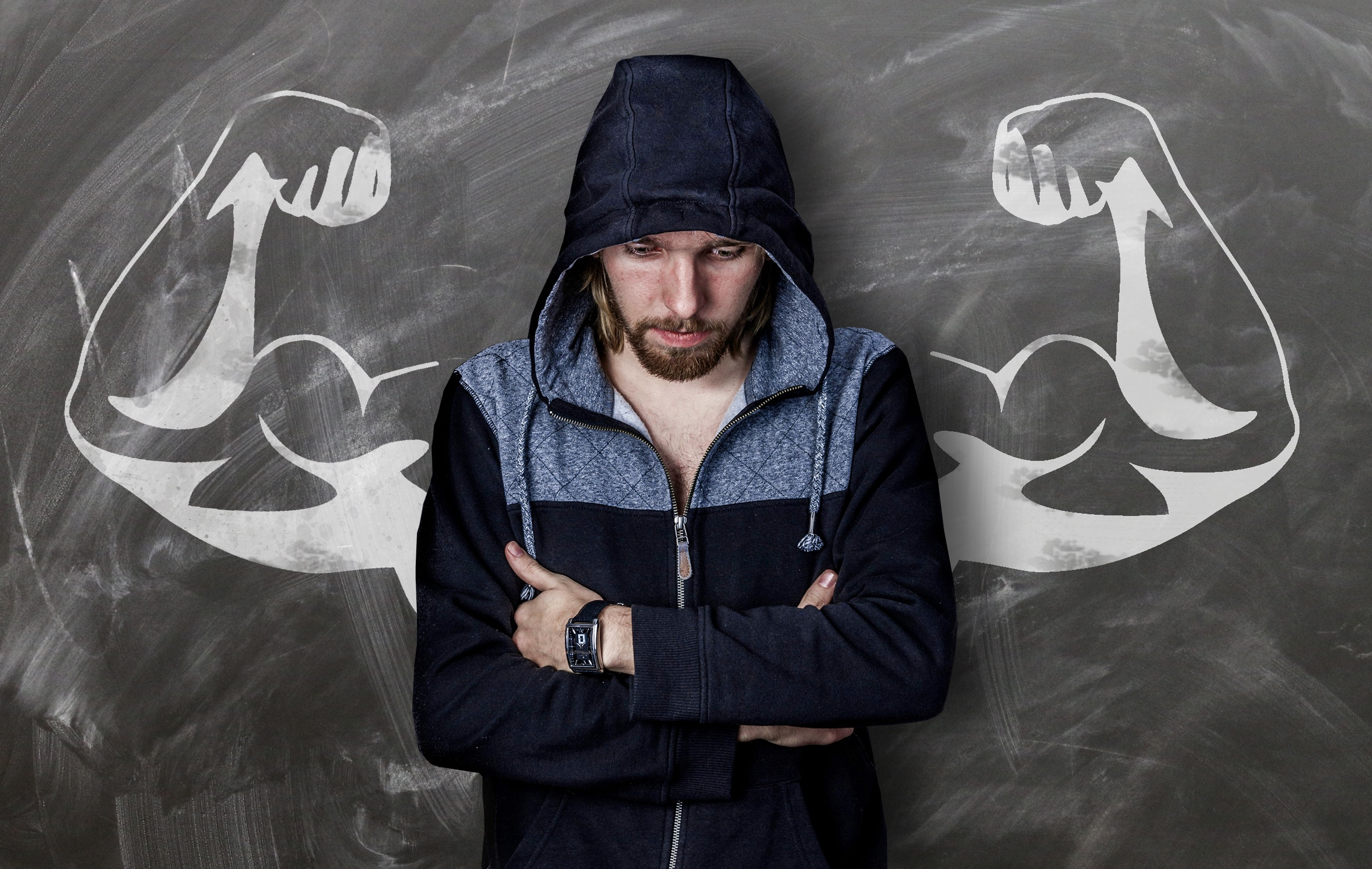 How to build muscles man with arms crossed