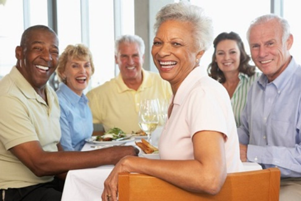 The Importance of Sharing Meals with Other Elders woman smiling
