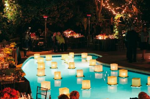 Outdoor Lighting Looks That Will Take Their Breath Away pool floating