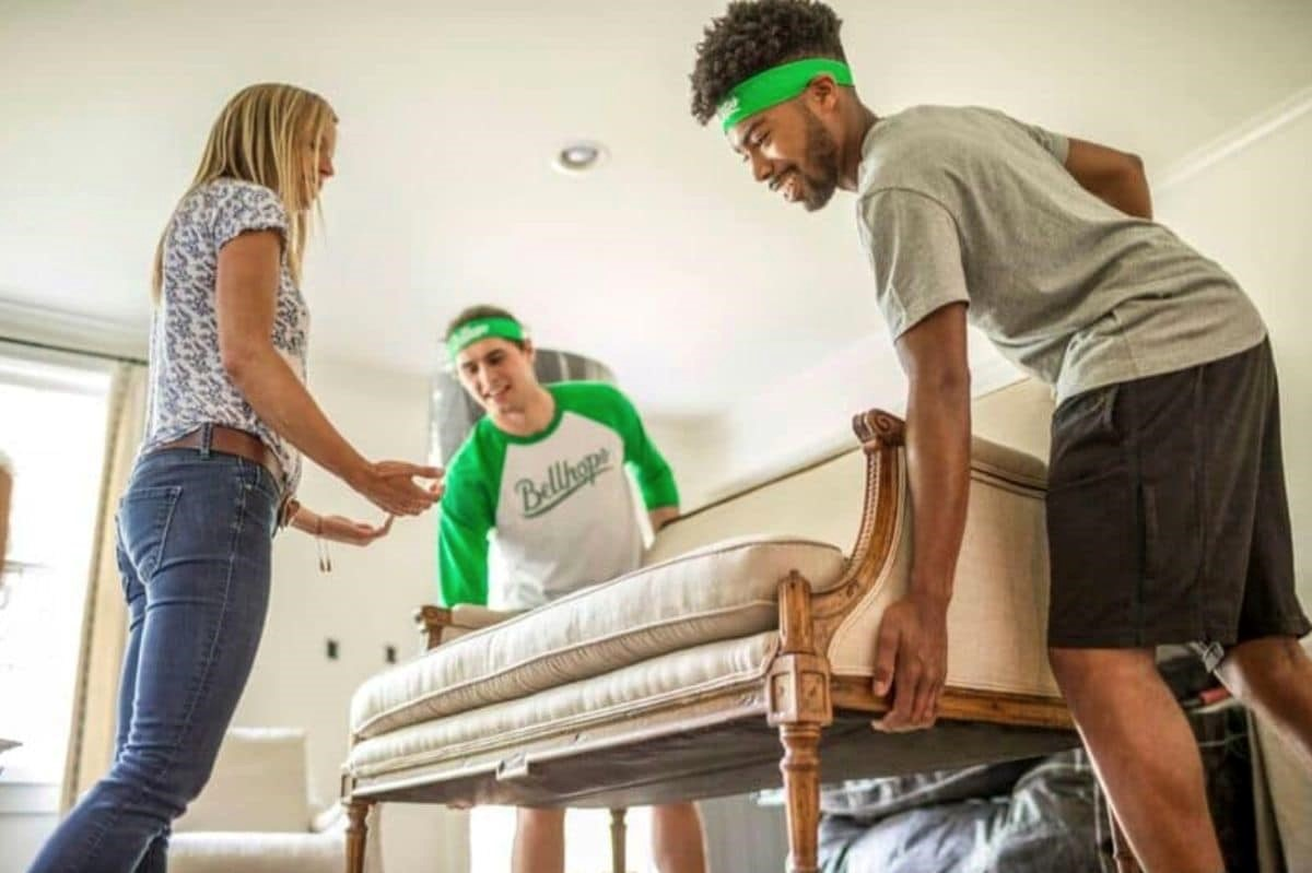 Getting employed in moving services consider Bellhops Moving couch