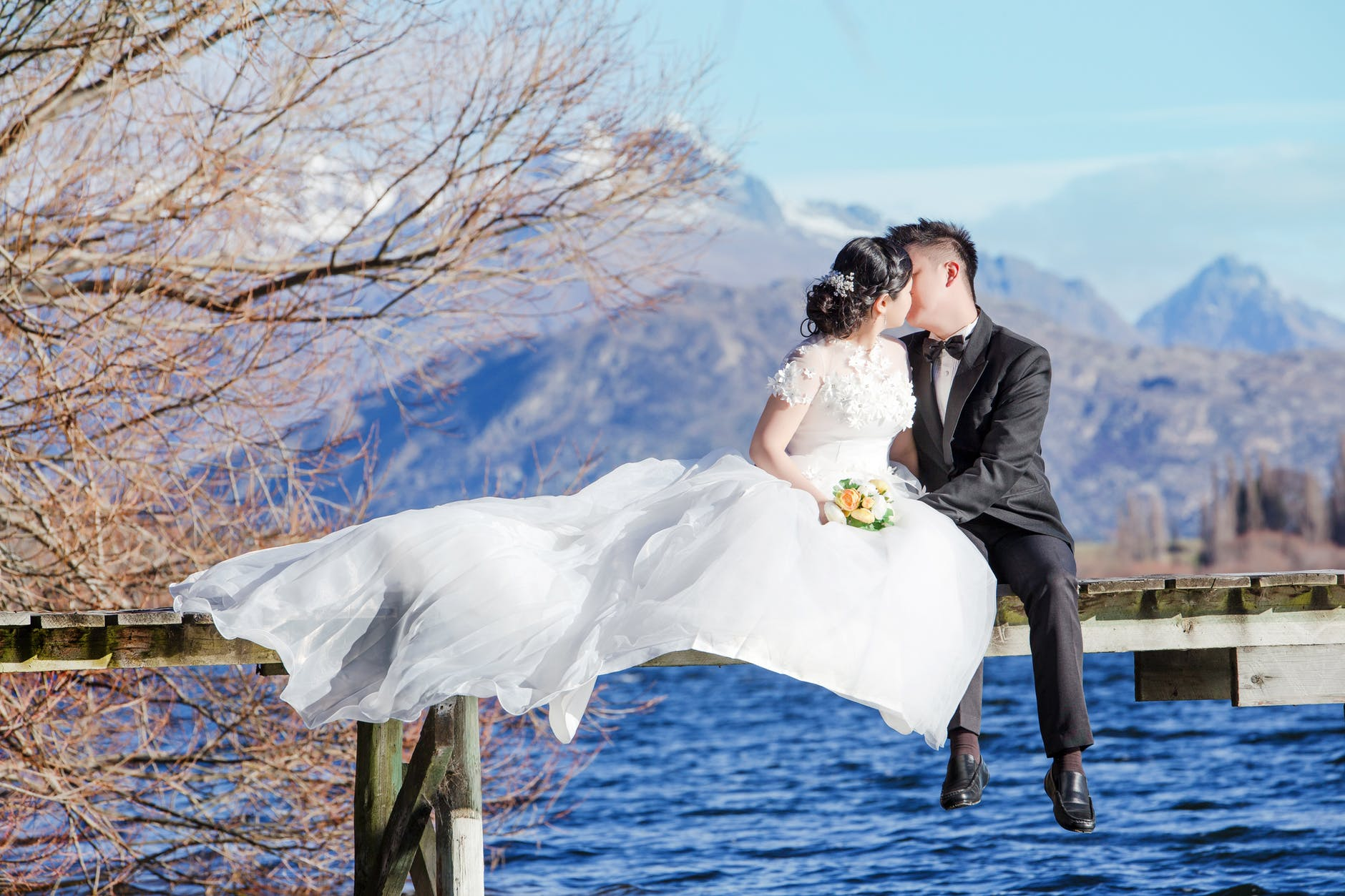 Tips for Drone Wedding Photography couple