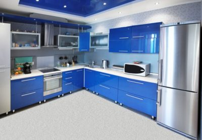 blue kitchen cabinets designs