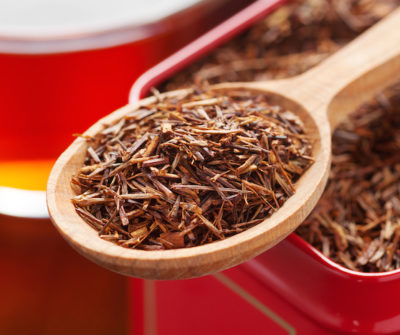 Rooibos In Tea Tin Box Closeup