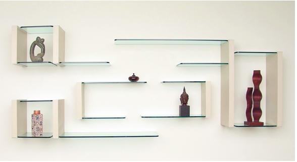 Modernize Your Home with Decorative Glass Shelves in Interior