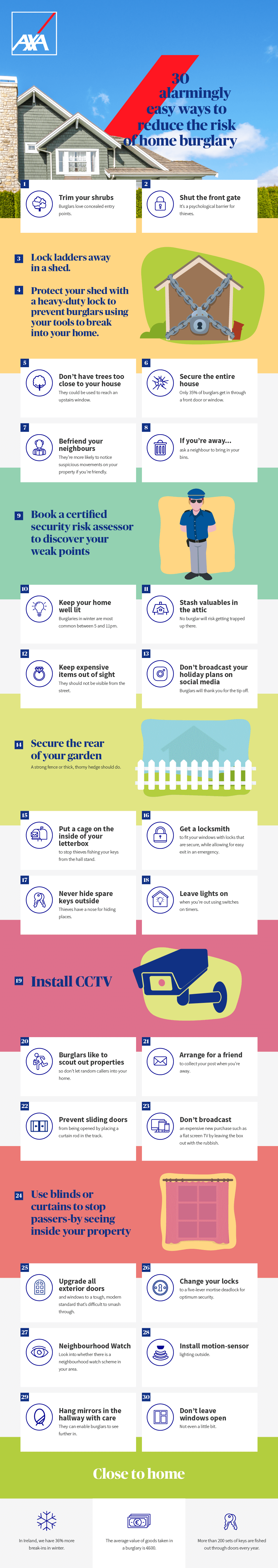 30 easy ways to reduce the risk of home burglary [infographic]