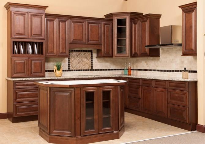 Bathroom and Kitchen Decoration/Cabinets Ideas - Decorate With RTA Cabinets oak