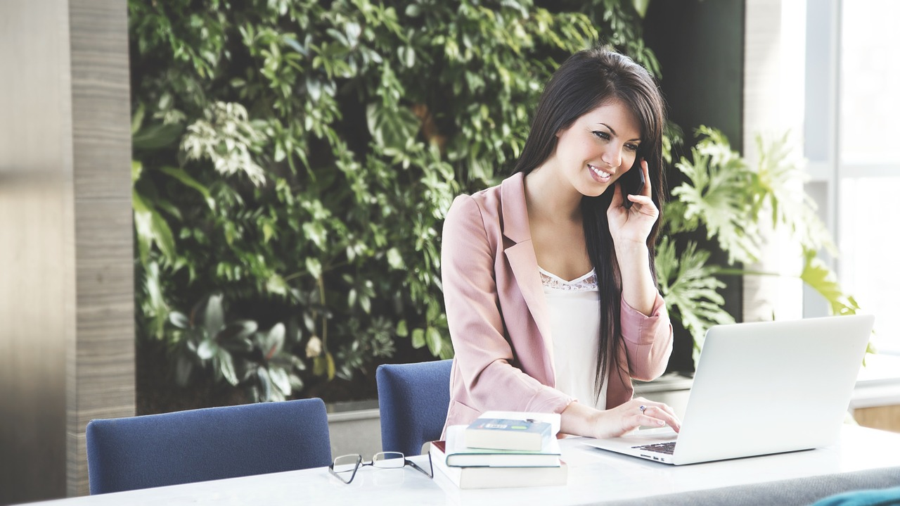 8 Tips for Staying Healthy when Working from Home woman on phone