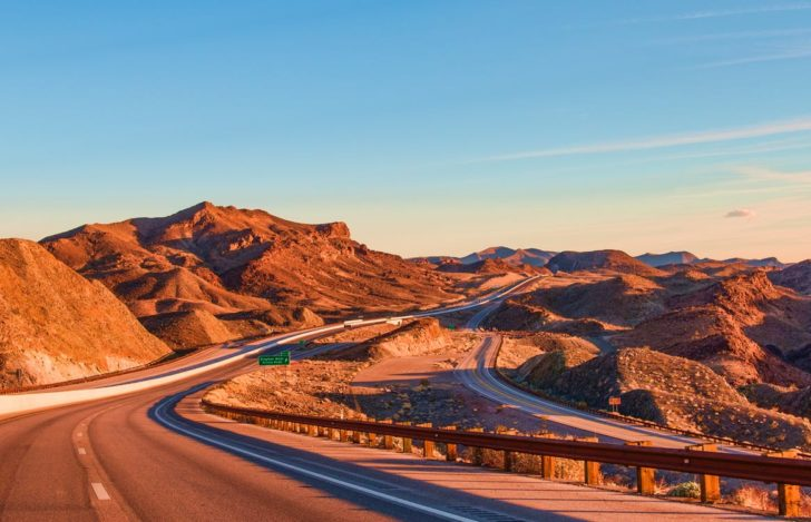Drive Through The Endless Desert Of Nevada