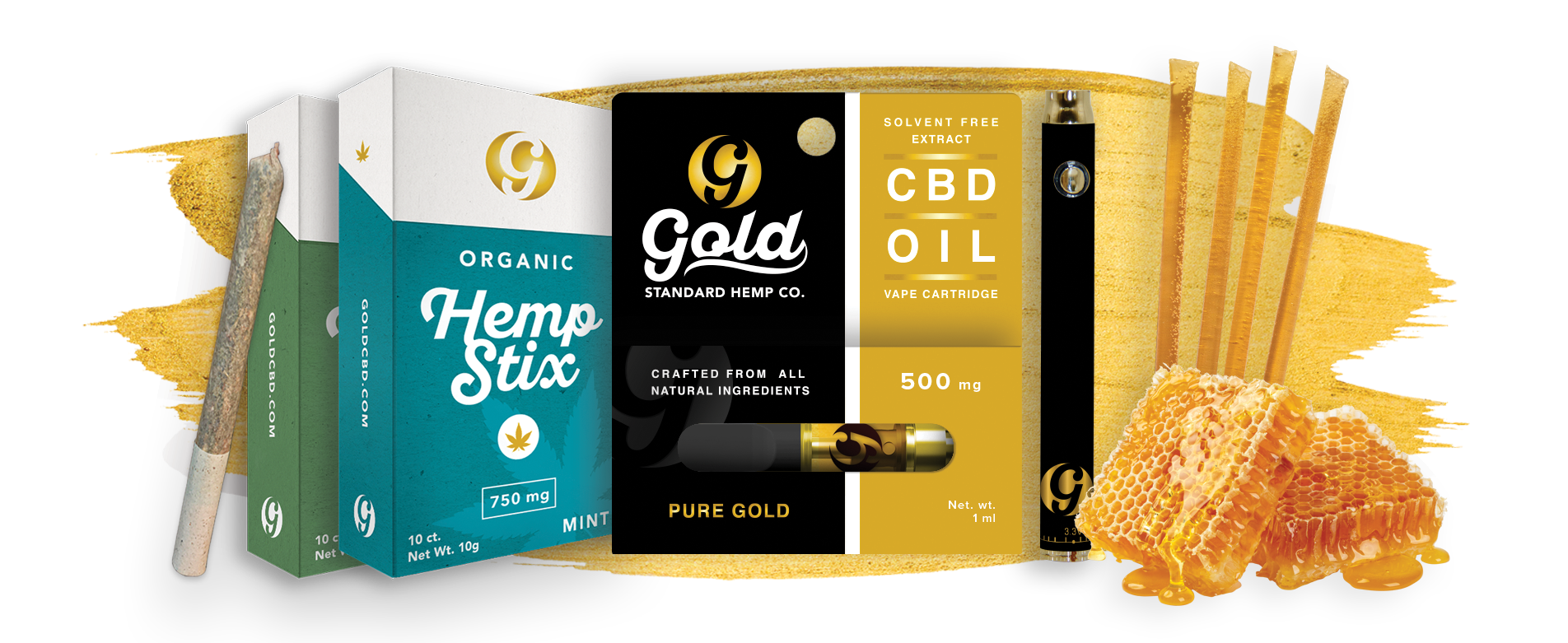 Gold Standard CBD Product Line gold options