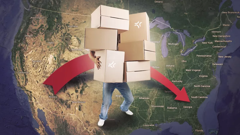 How To Move Across The Country On A Budget boxes