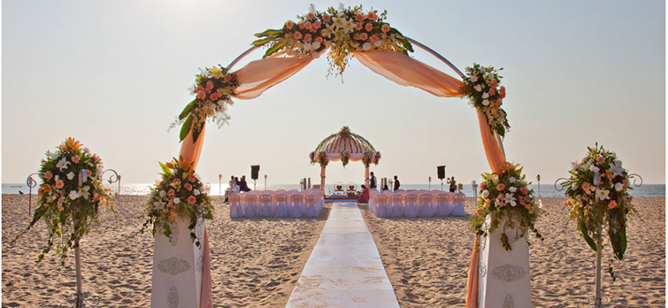Top 5 Wedding Destinations In India To Have Your Dream Wedding beach aisle
