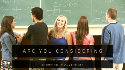 Are You Considering Studying In Australia?