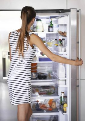 7 Tips for Organizing Your Holiday Brunches for Less Stress & More Family Time fridge