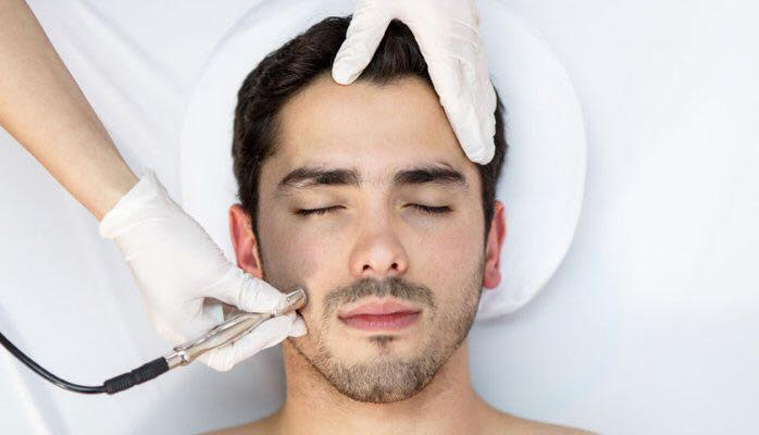 men's beauty treatment