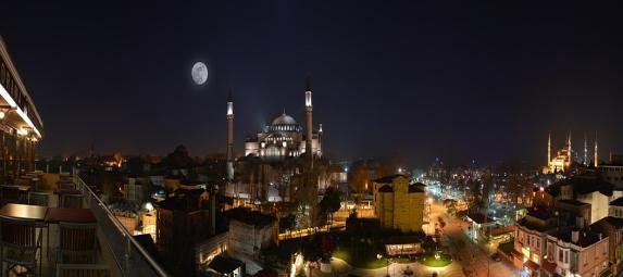 Night, Cami, Hagia Sophia, Istanbul