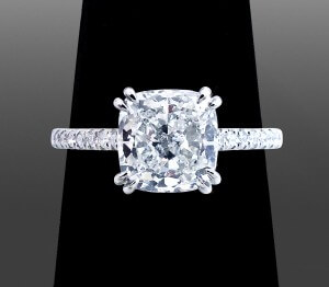 Cushion Cut Solitaire - Vanessa Nicole Jewels