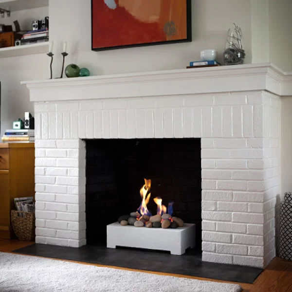 paint brick fireplace for home