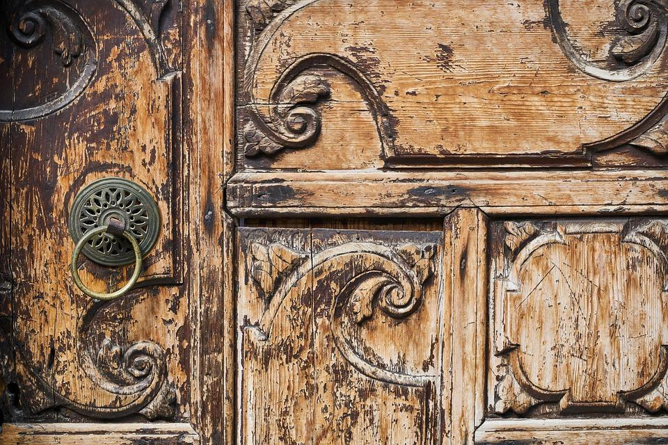 Door, Wood, Knob, Introduction, Old, Architecture