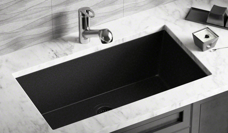 pick granite sinks from the kitchen sink mix for a modern look