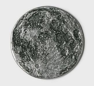 Full Moon Silver Coin