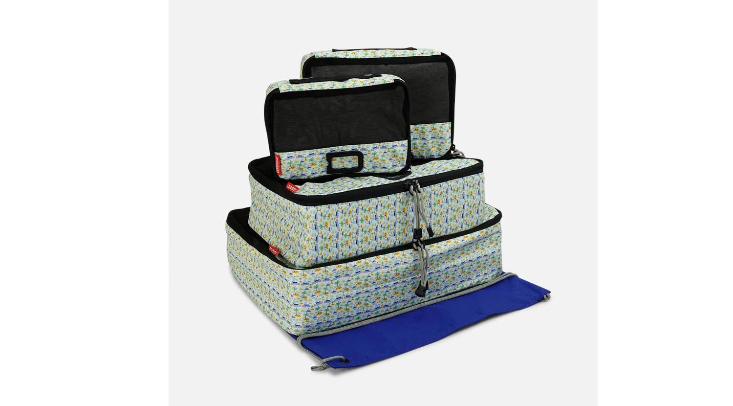 Designer Printed Packing Cubes 5 Pc Set by Zoomlite