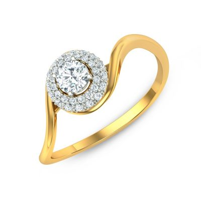 Sparkling Diamond Solitaire Ring
