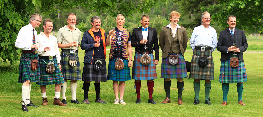 Kilts in a line