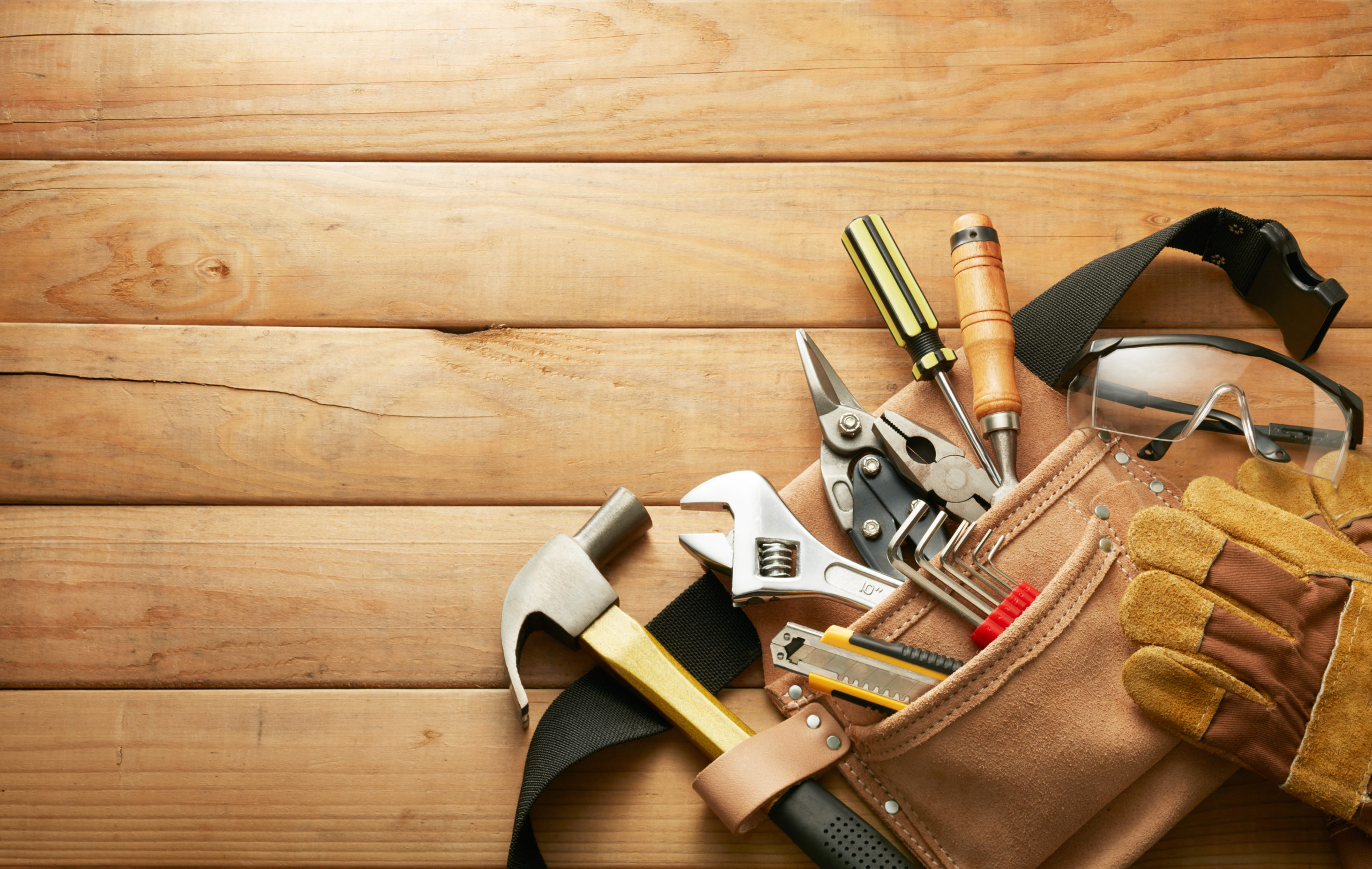 tools in tool belt