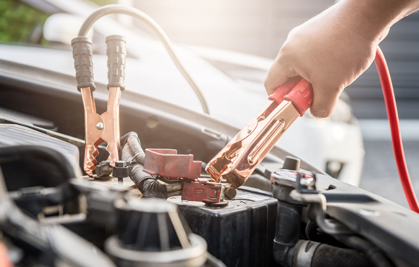 jumpstart a dead car battery