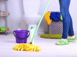 clean in your bathroom