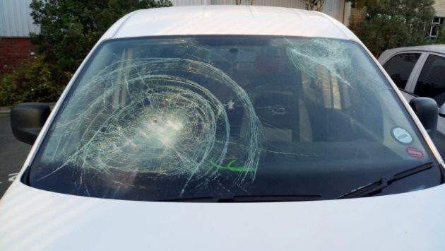 Damaged Truck Windscreen
