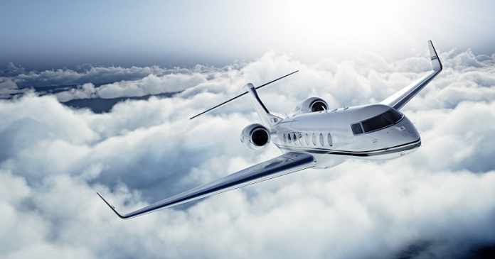 chartering a private jet