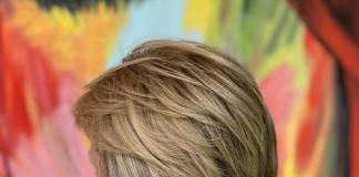 short haircut for older women