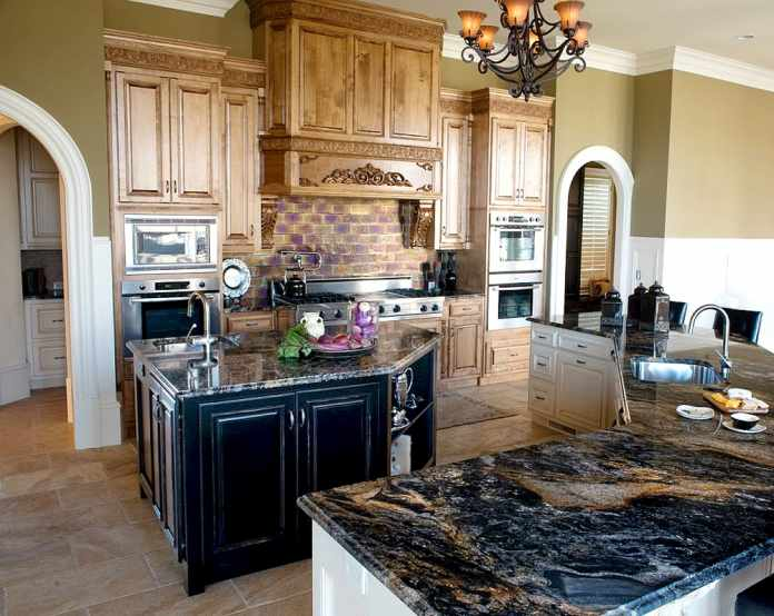 Uncovered Kitchen Countertops