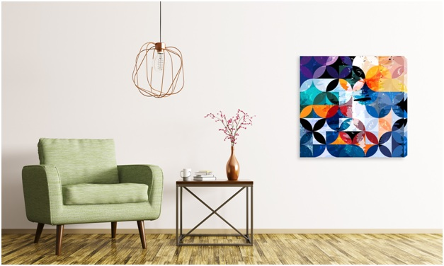 abstract print for your transitional wall