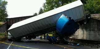 truck jackknife accident