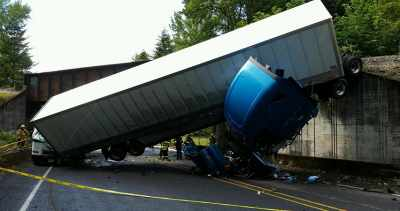 truck jackknife accident
