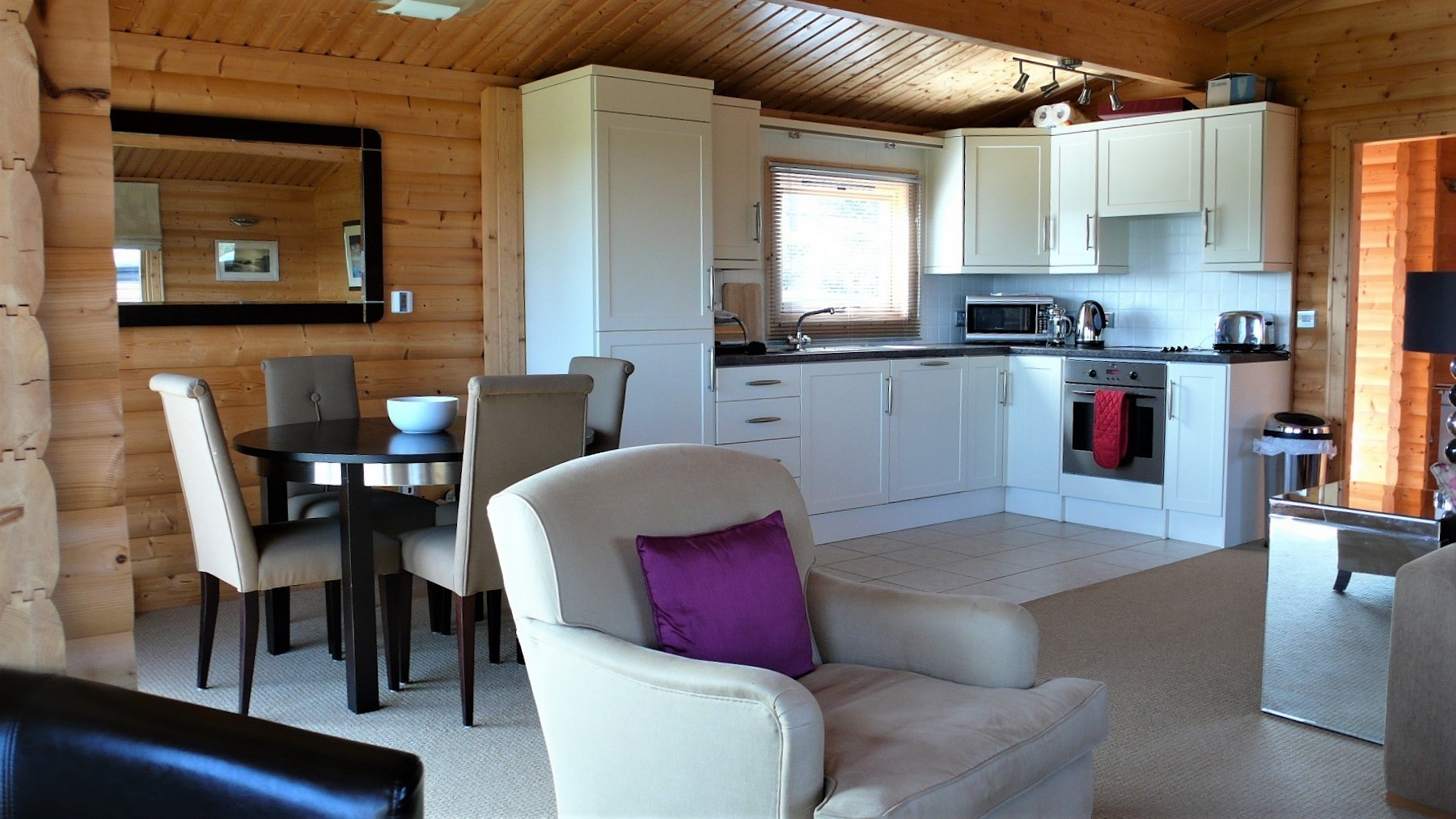 Living room annexe norwegian log