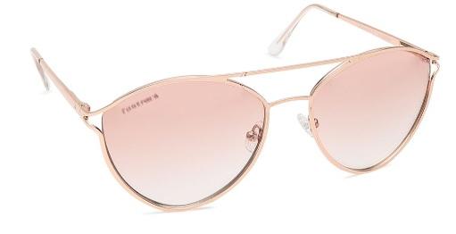 Gold CatEye Fastrack Women Sunglasses
